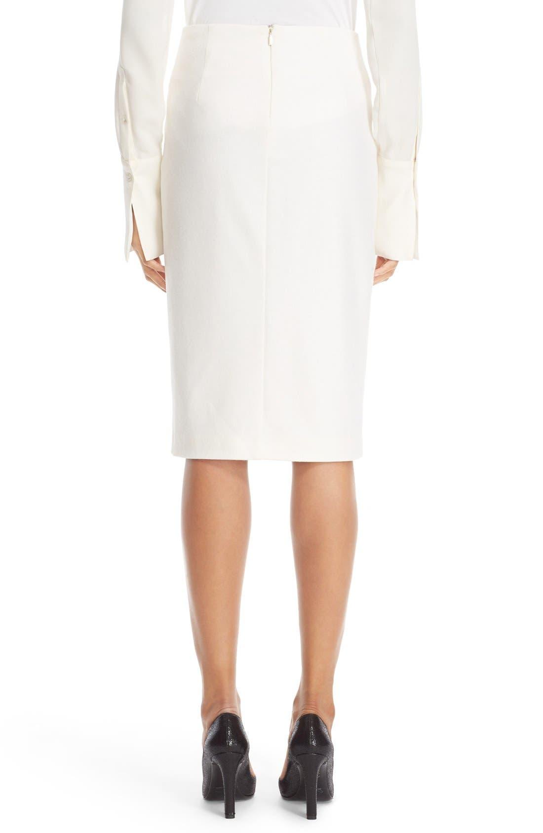 Alternate Image 2  - Max Mara 'Visita' Wool Jersey Pencil Skirt