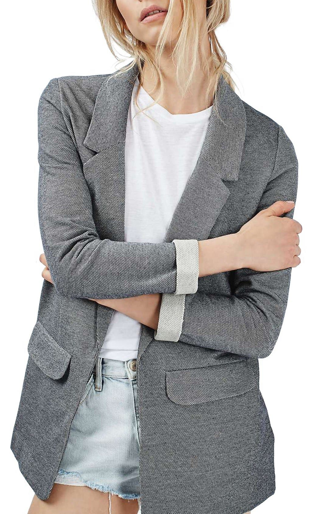 Main Image - Topshop 'Emery Tonic' Oversized Boyfriend Blazer