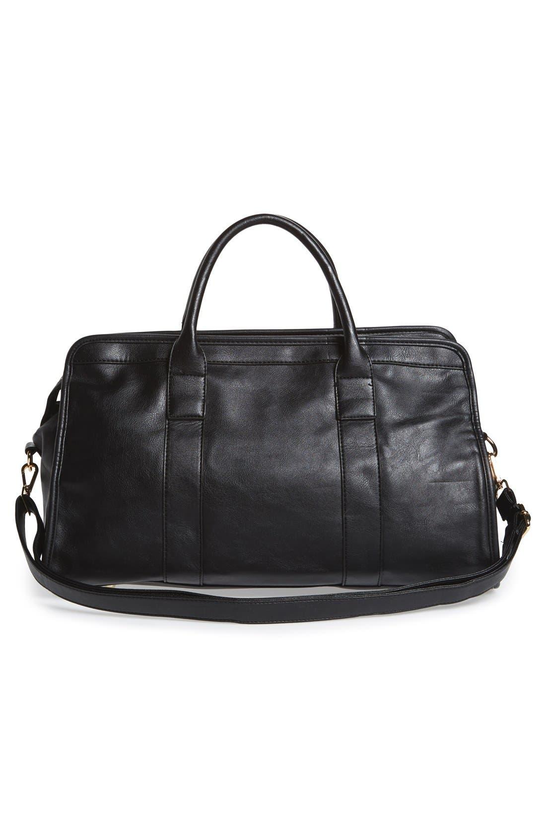 Alternate Image 3  - NU-G Faux Leather Overnighter Bag