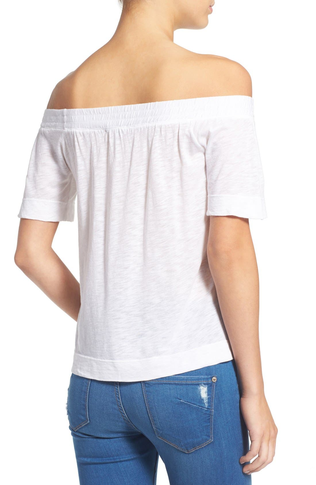 Alternate Image 2  - Splendid Slub Knit Off the Shoulder Top