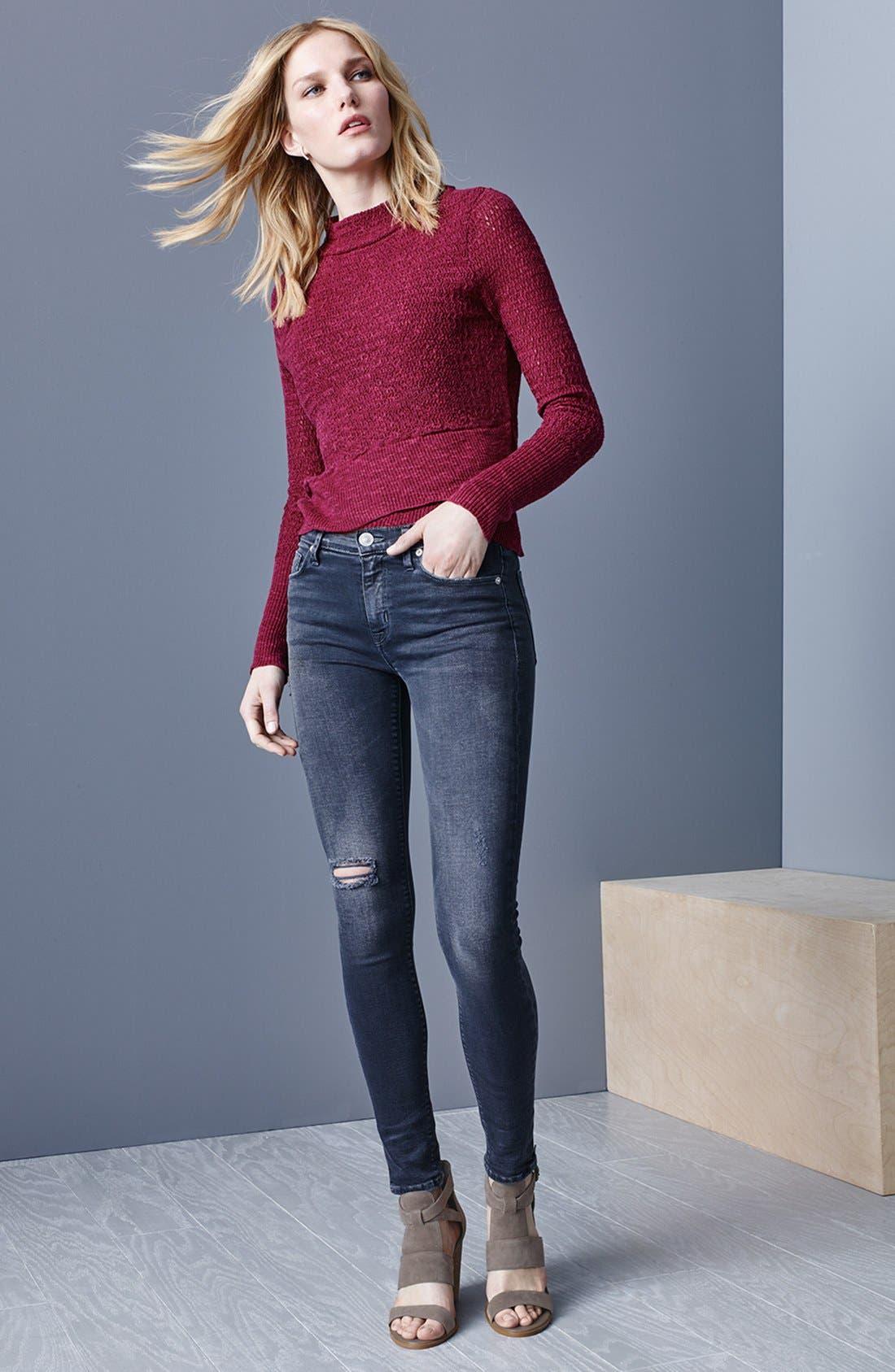Alternate Image 6  - Hudson Jeans Krista Ankle Jeans (Stormy Horizon)