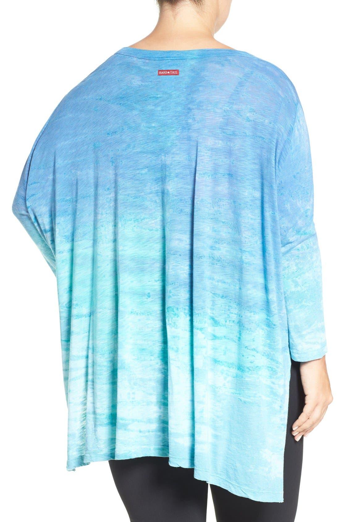 Alternate Image 2  - Hard Tail Oversize Three-Quarter Sleeve Tee (Plus Size)