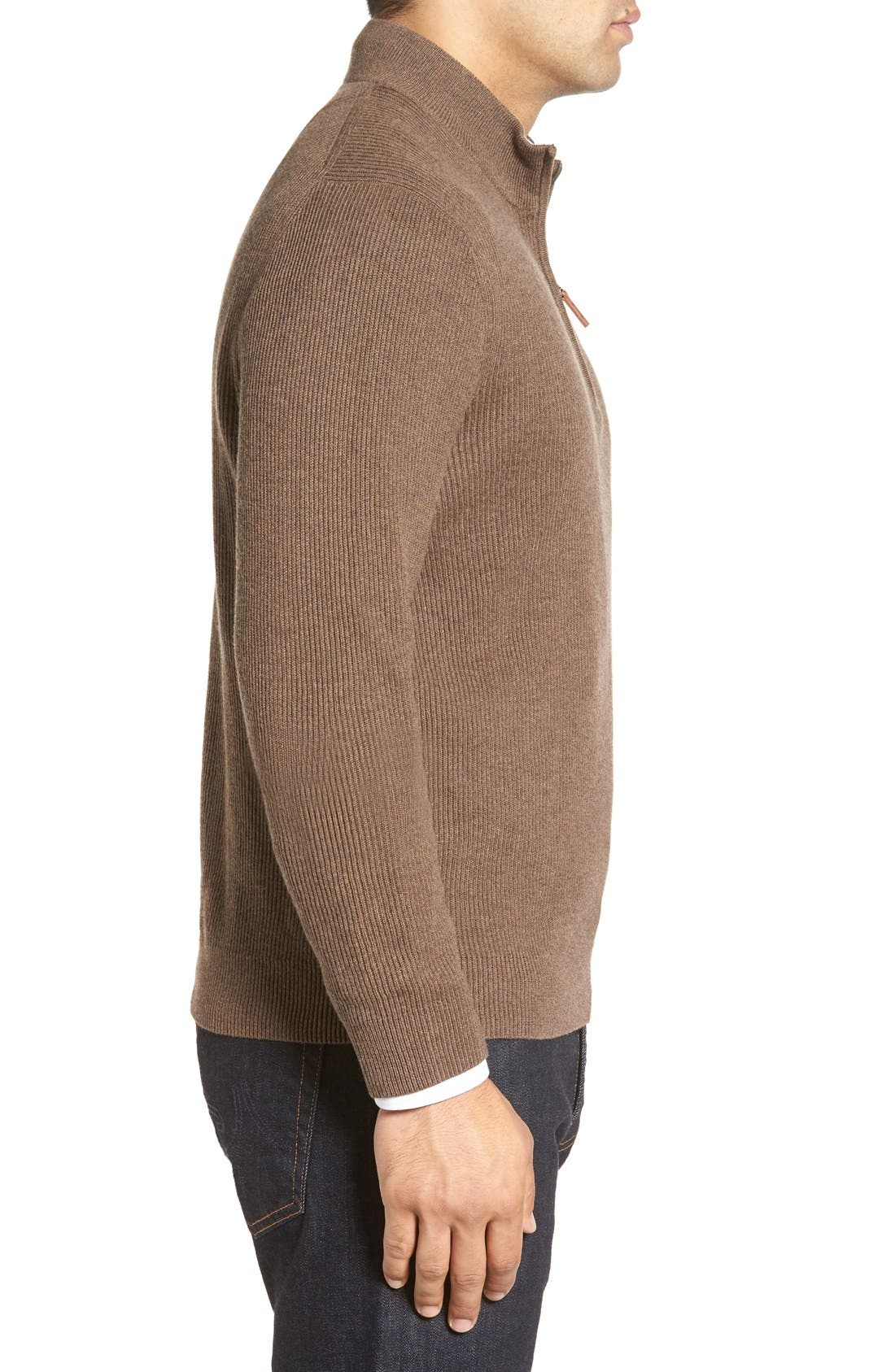 Alternate Image 3  - Nordstrom Men's Shop Cotton & Cashmere Rib Knit Sweater (Regular & Tall)
