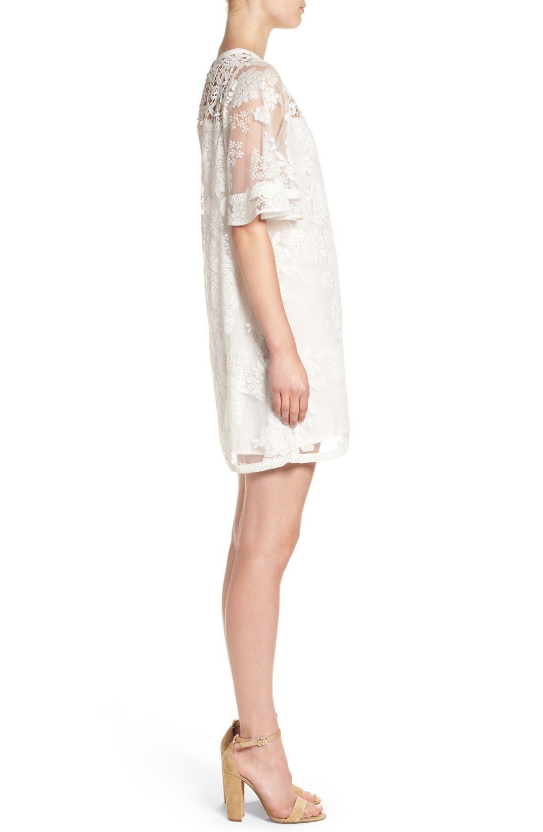 Alternate Image 3  - Catherine Catherine Malandrino 'Mel' Lace Babydoll Dress