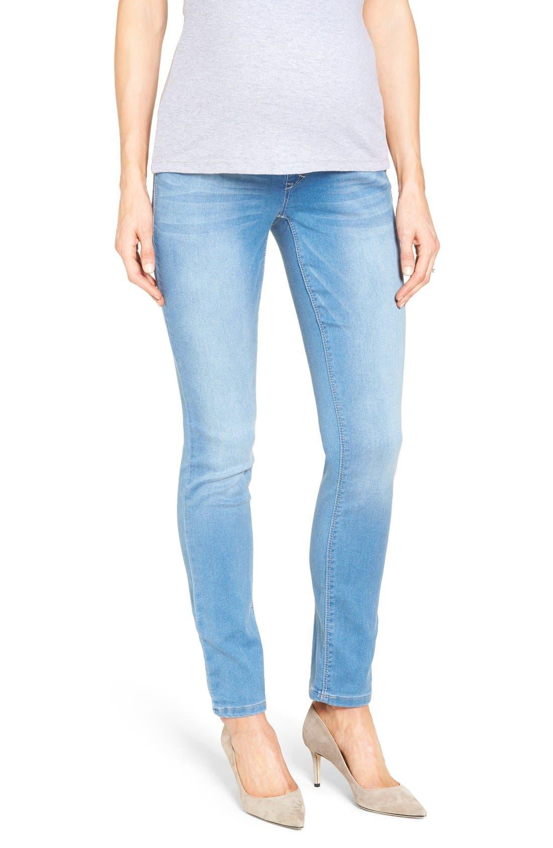 1822 Denim 'Butter' Maternity Skinny Jeans (Mojave)