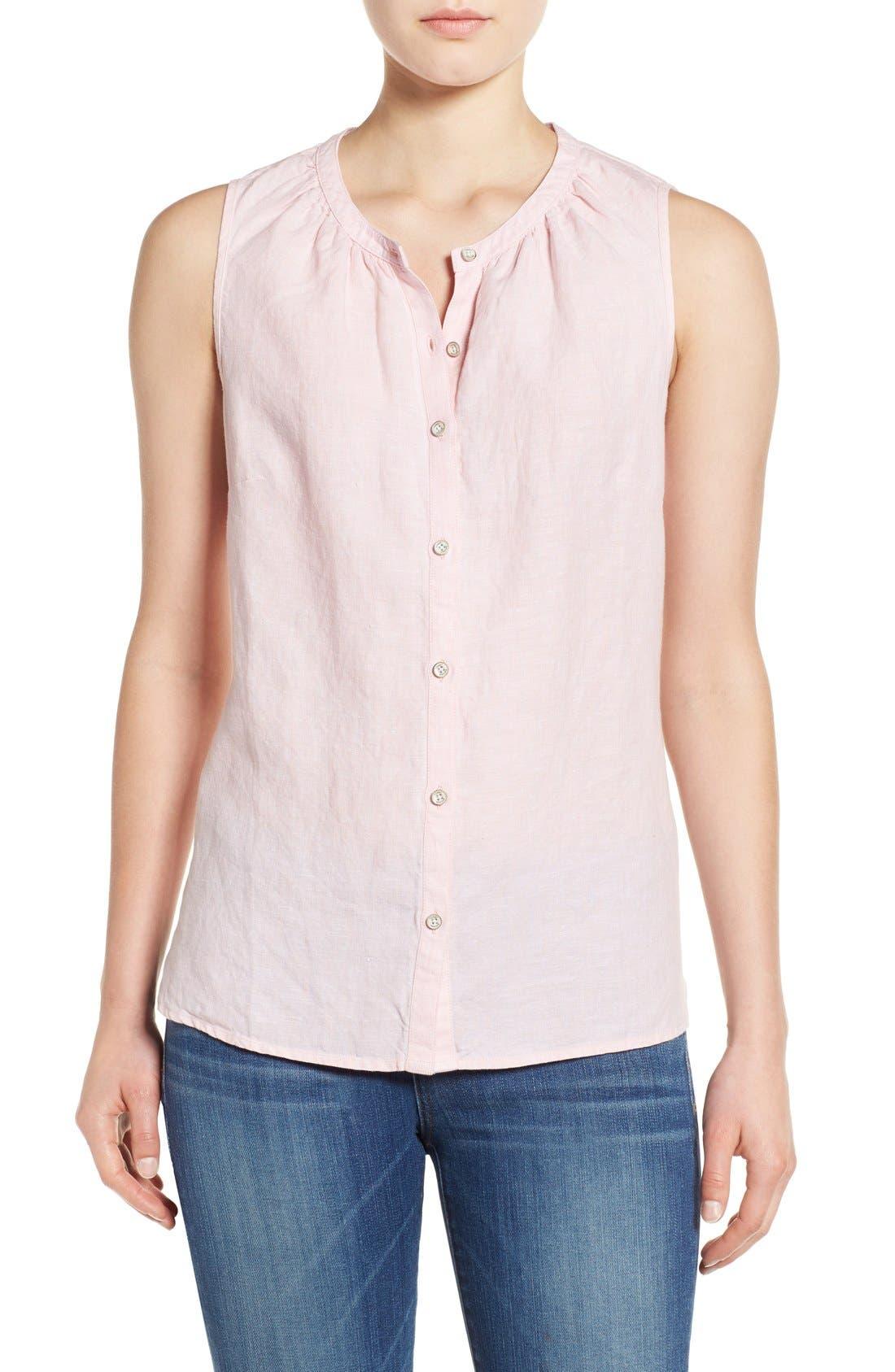 Main Image - Tommy Bahama 'Sunset Chambray' Sleeveless Shirt
