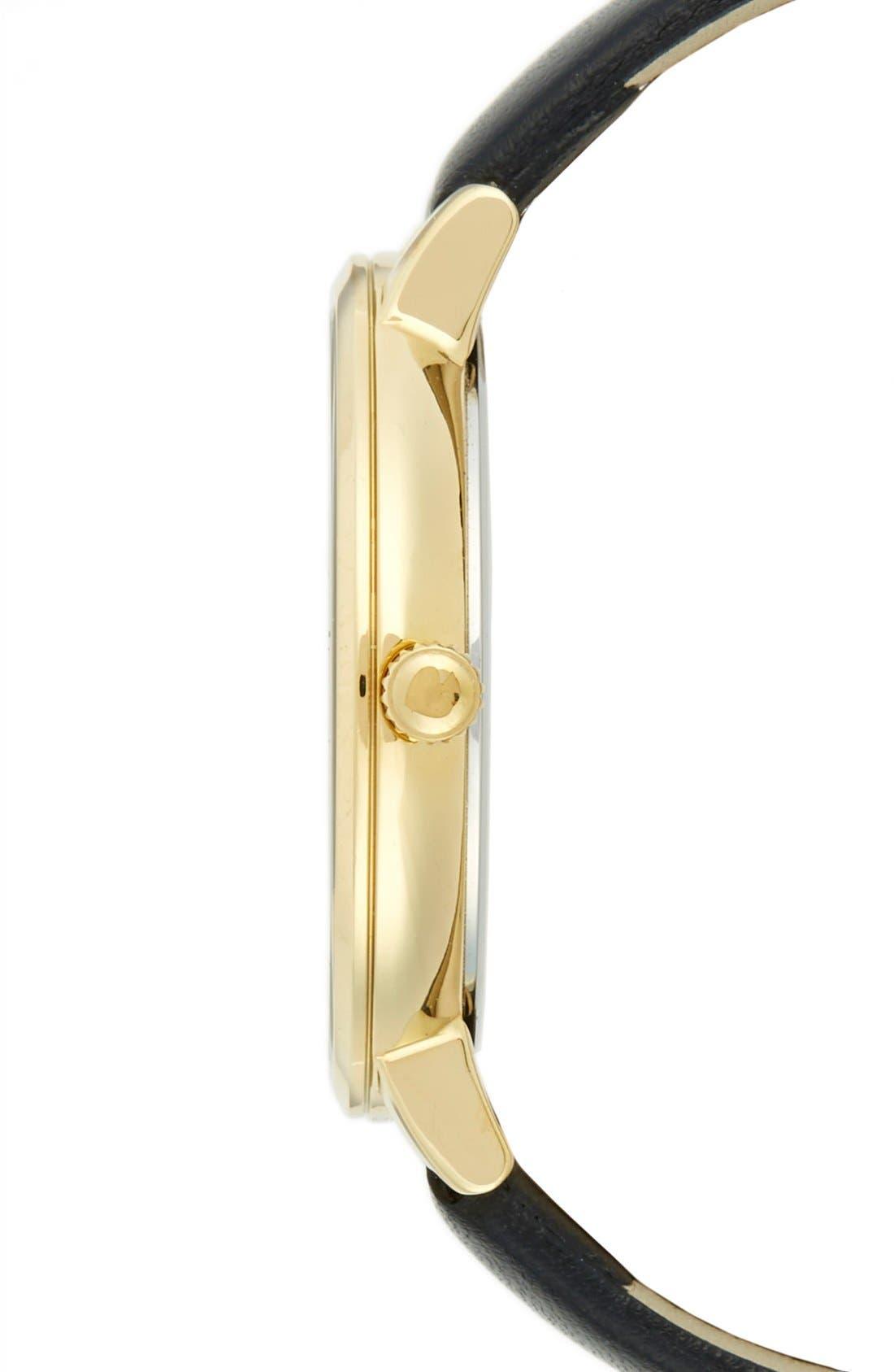 Alternate Image 3  - kate spade new york 'monterrey' leather strap watch, 38mm