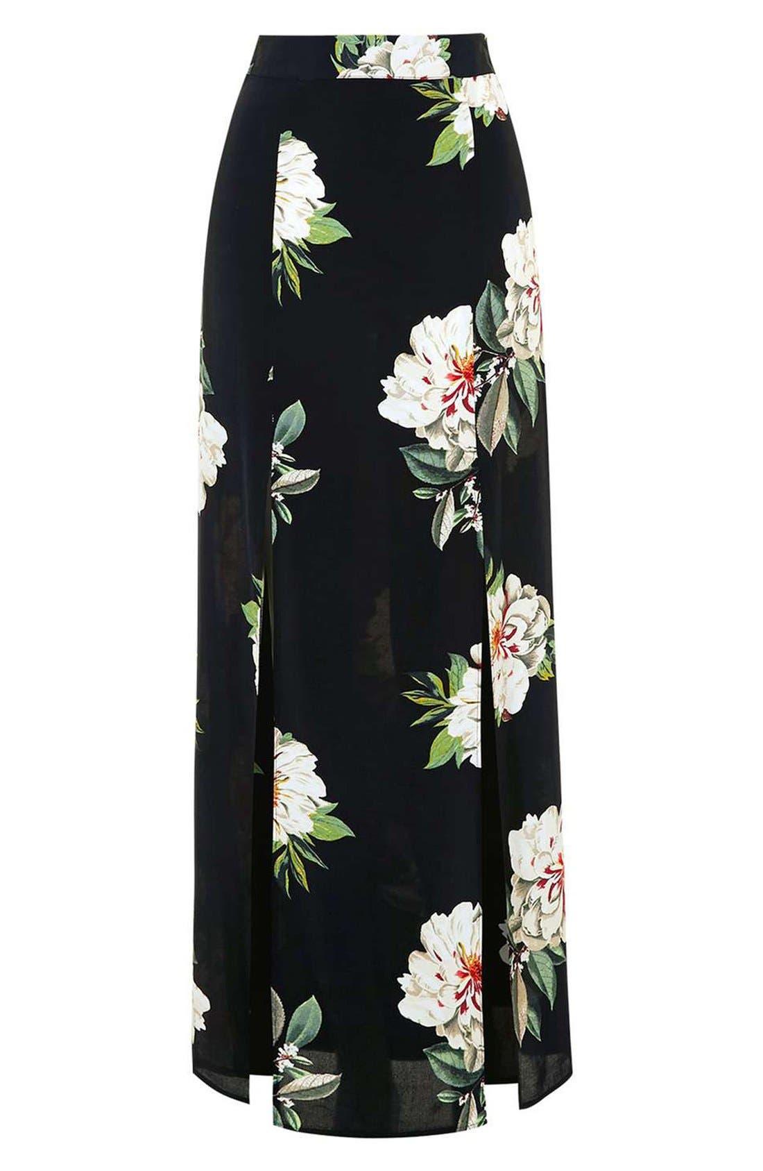 Alternate Image 4  - Topshop Floral Print Maxi Skirt
