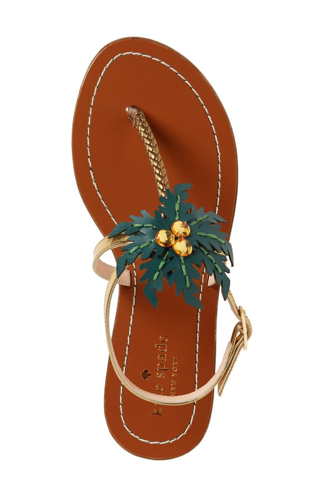 Alternate Image 3  - kate spade new york 'solana' palm tree sandal (Women)