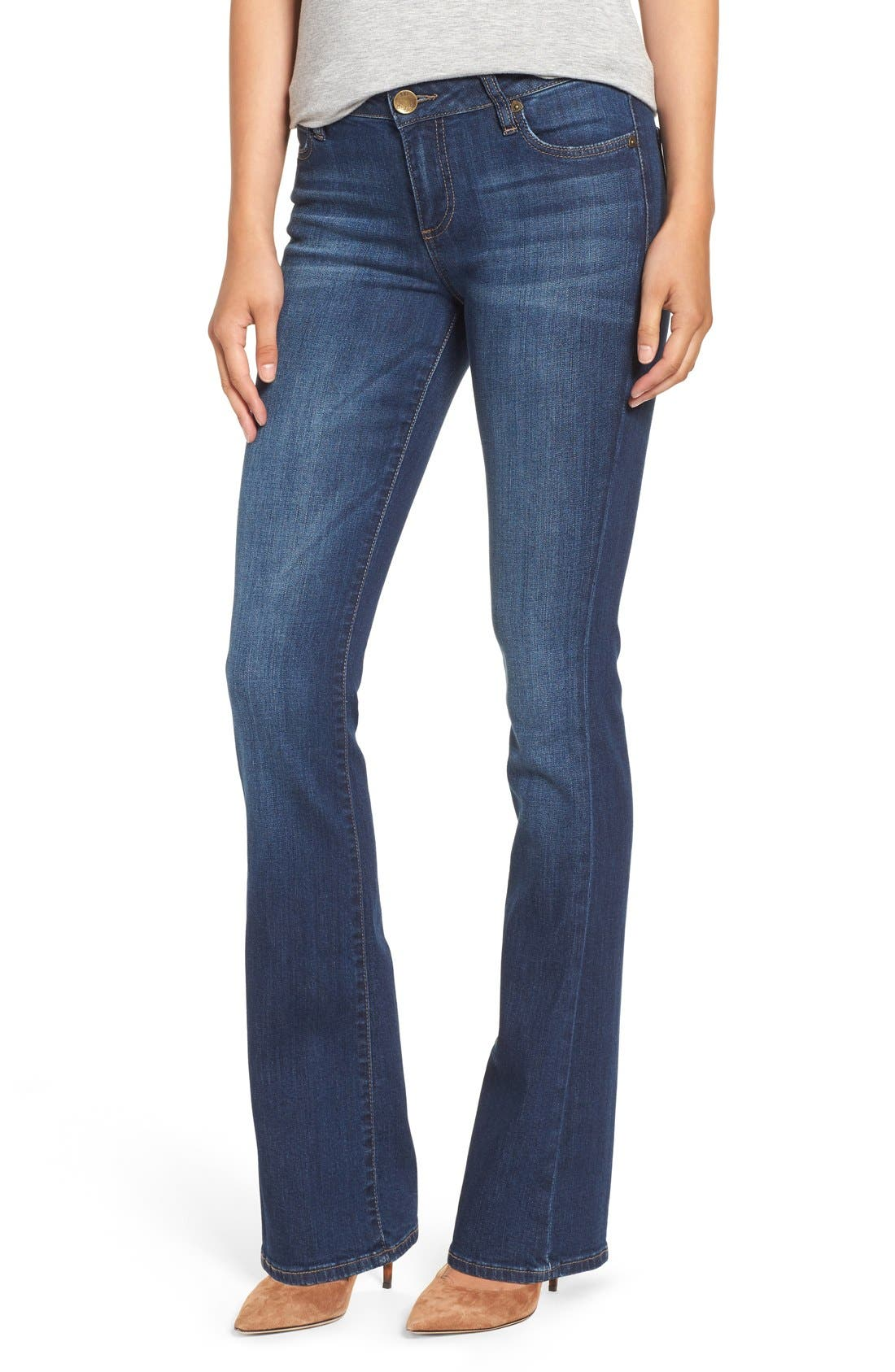 KUT FROM THE KLOTH 'Natalie' Stretch Curvy Bootcut
