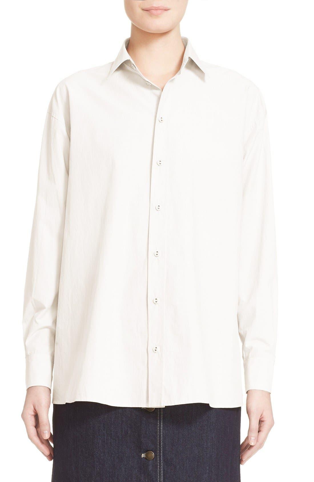 TOMAS MAIER Cotton Poplin Trapeze Shirt