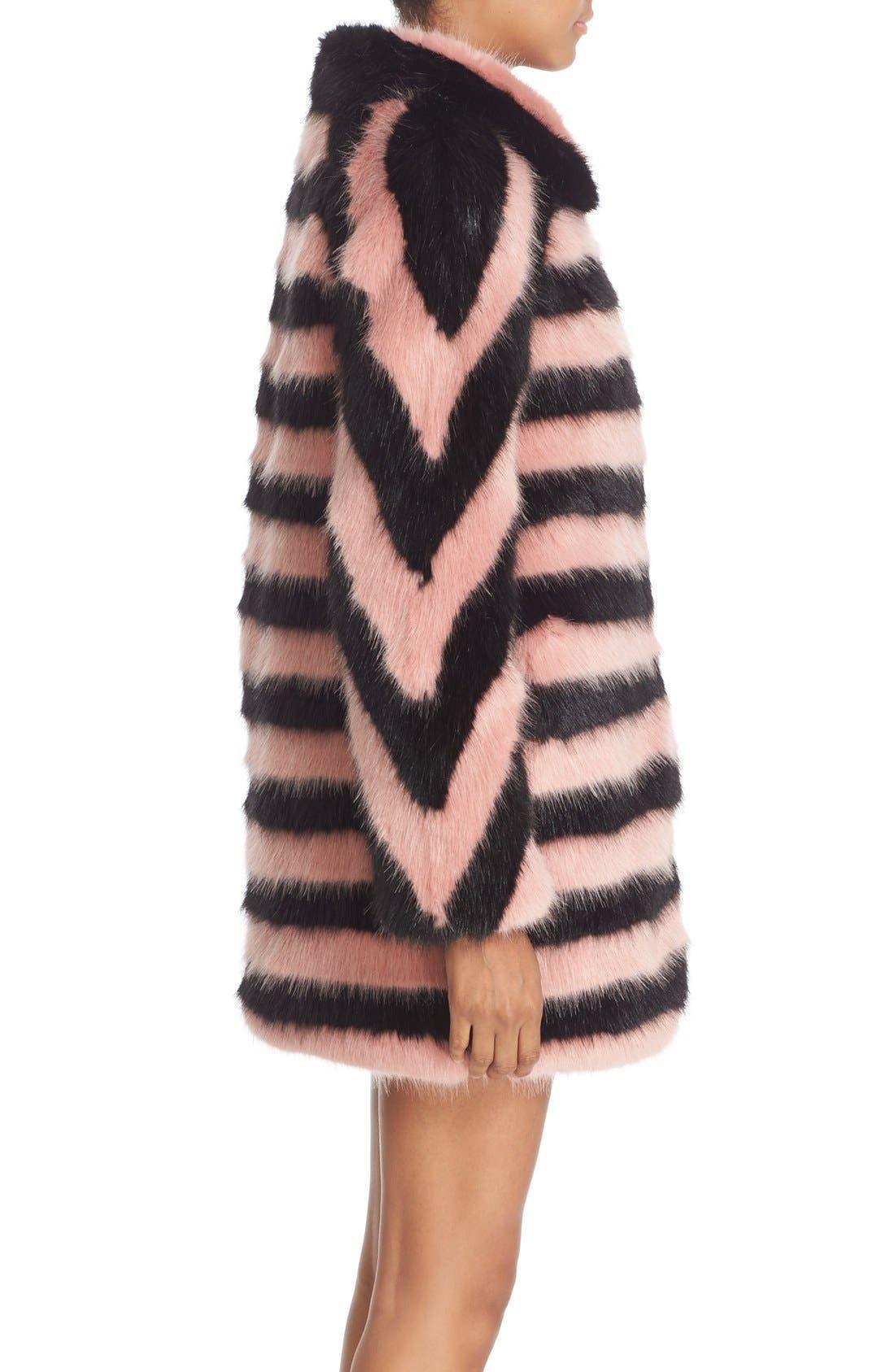 Alternate Image 5  - Shrimps 'Jean' Stripe Faux Fur Coat