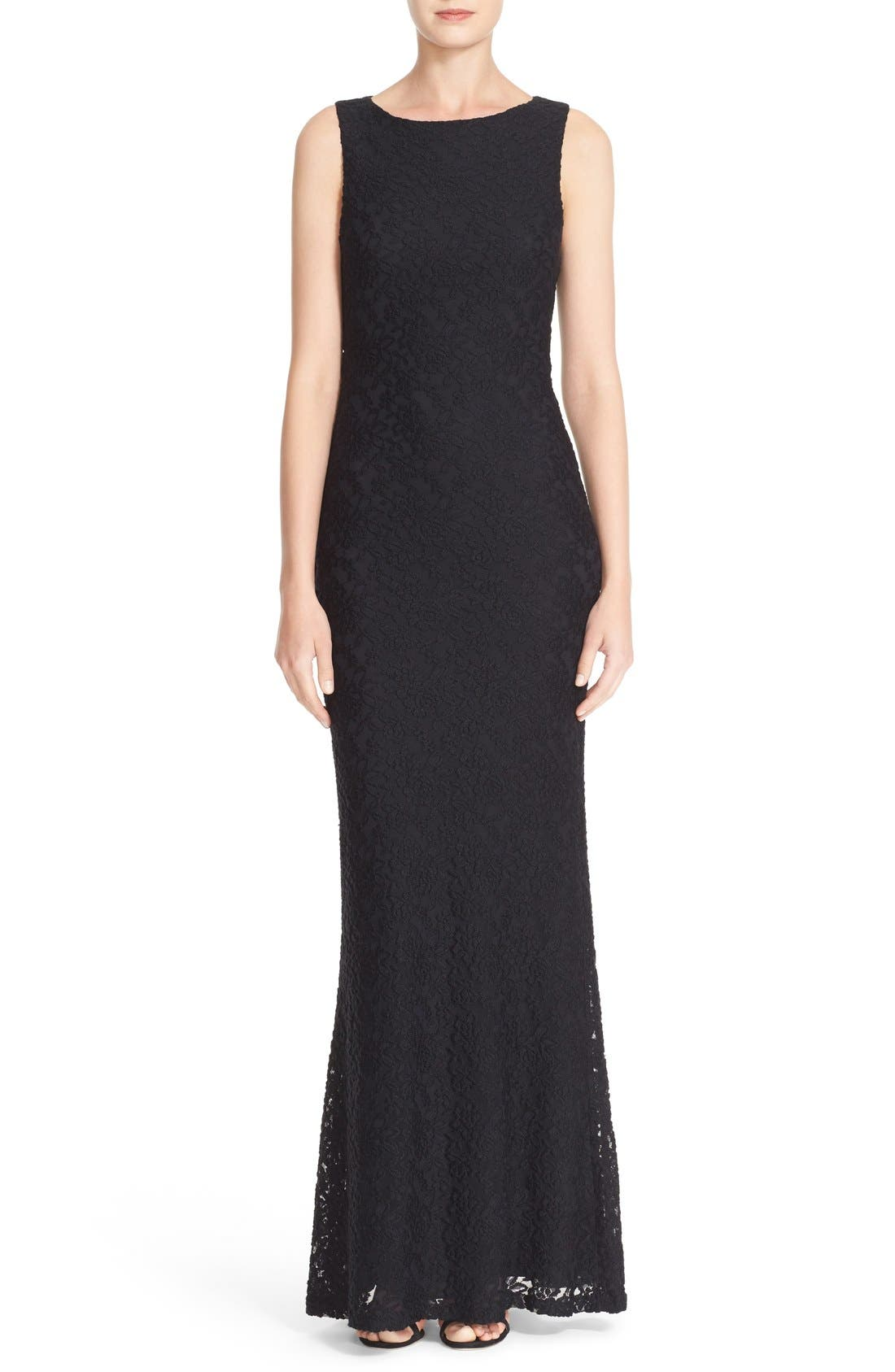 ALICE + OLIVIA 'Sachi' Open Back Lace Maxi
