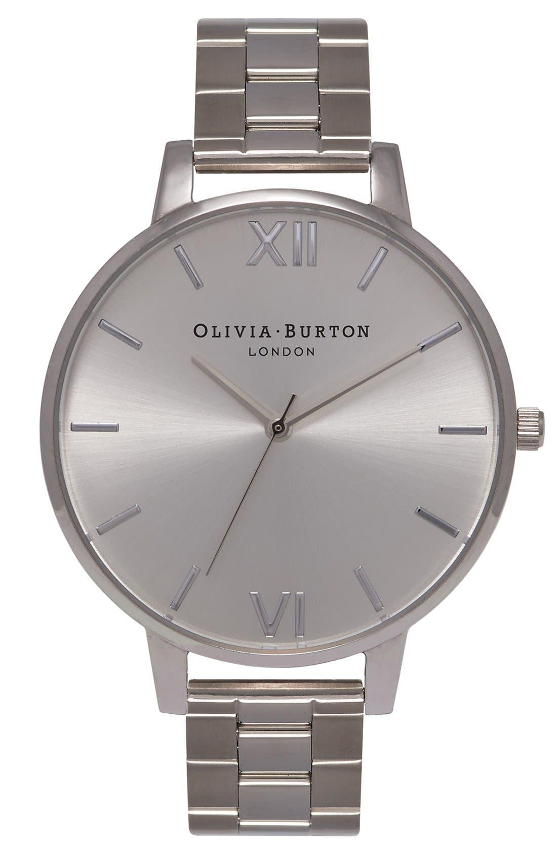 Alternate Image 1 Selected - Olivia Burton Big Dial Bracelet Watch, 38mm