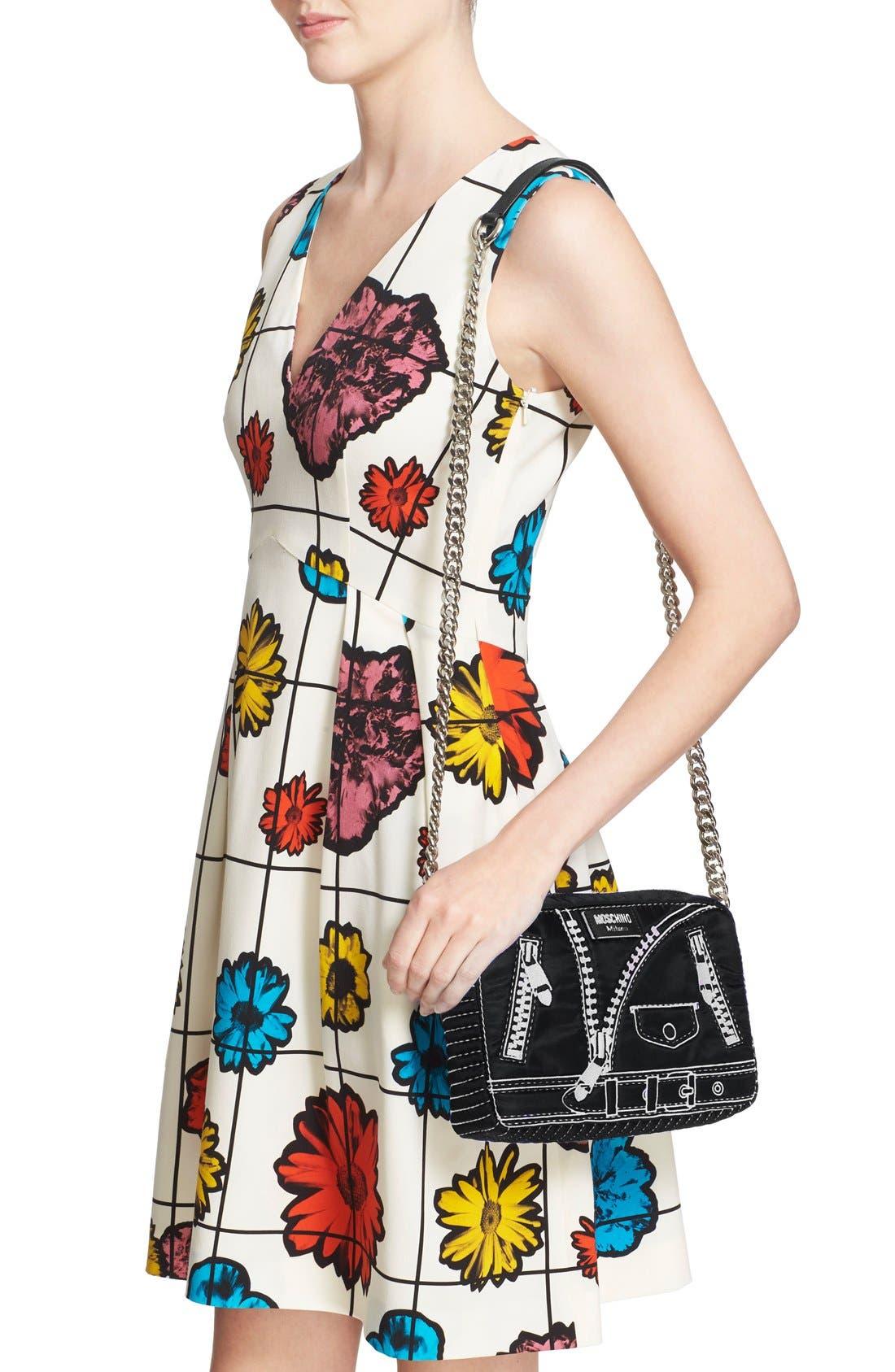 Alternate Image 2  - Moschino 'Biker Jacket' Embroidered Crossbody Bag