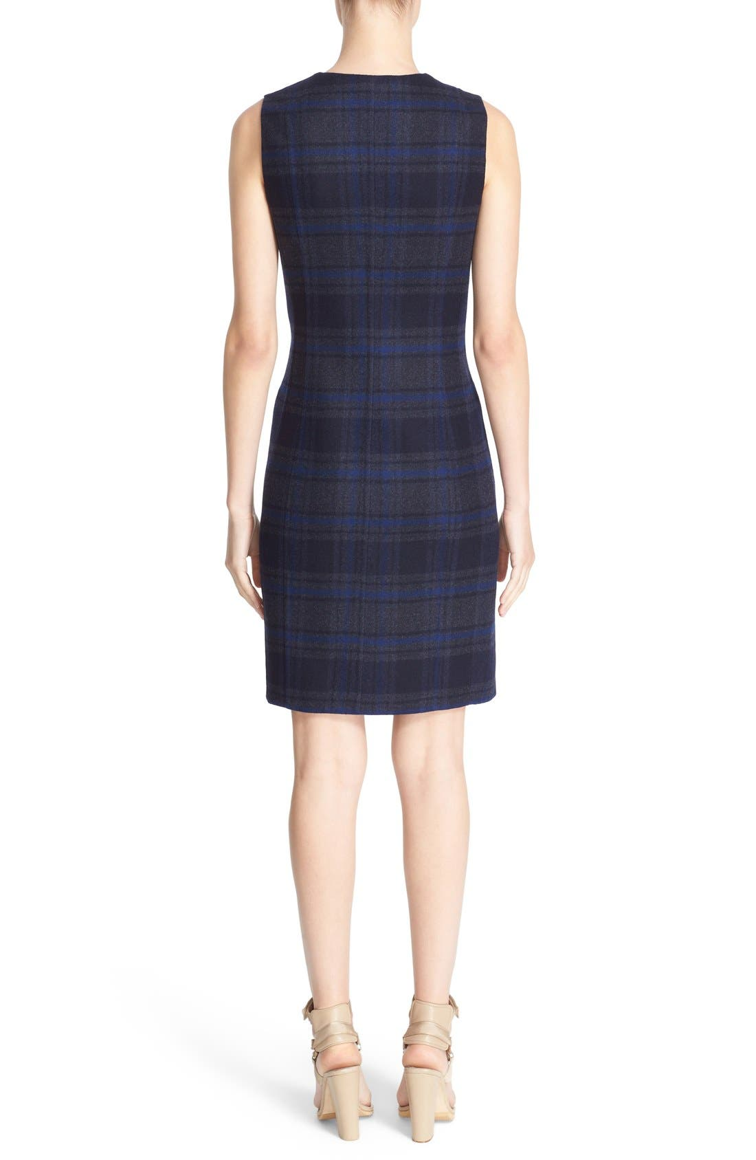 Alternate Image 2  - Akris Reversible Front Zip Double Face Wool Sheath Dress