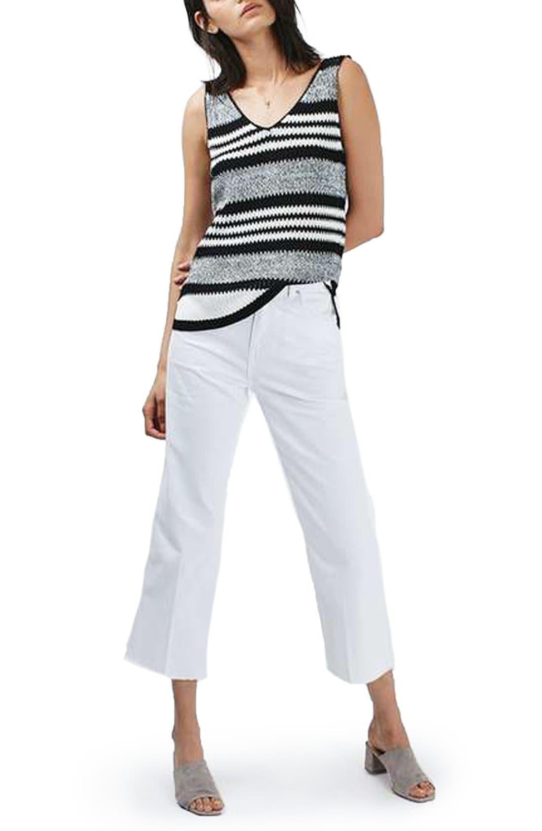 Alternate Image 2  - Topshop Monochrome Stripe Sweater Vest