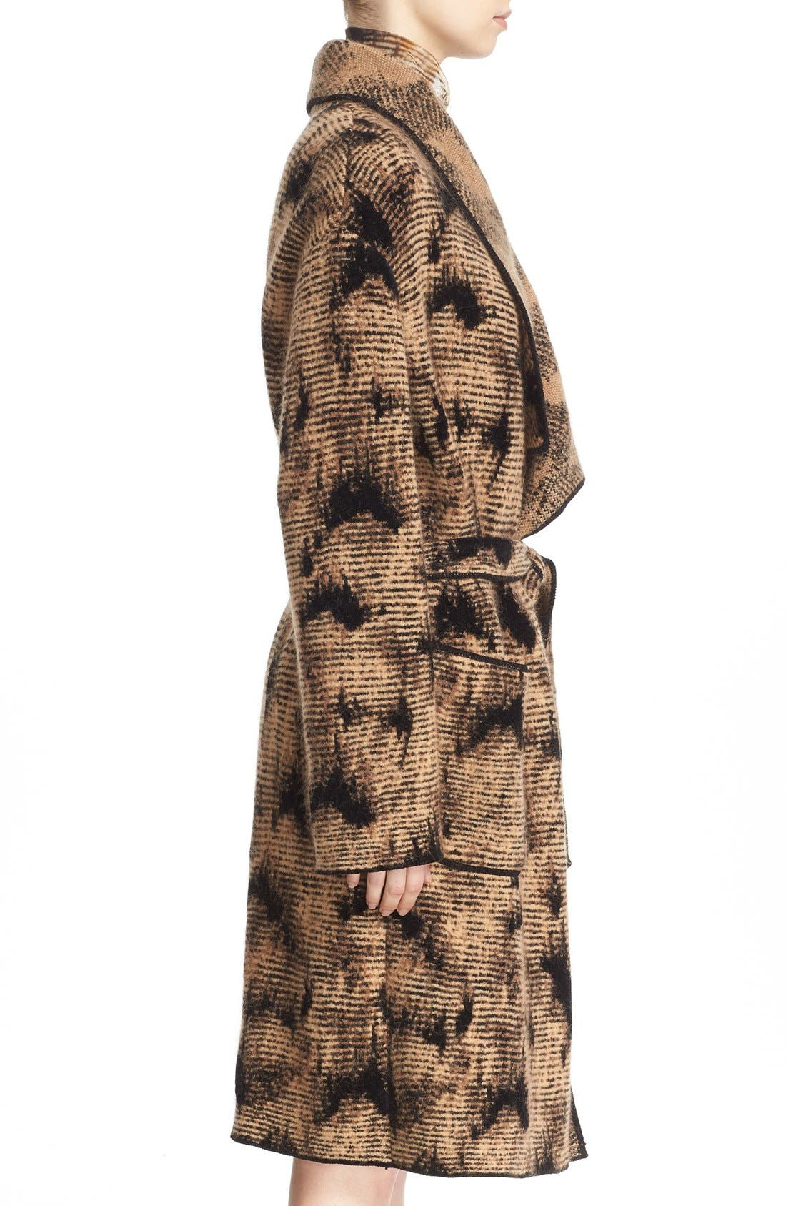 Alternate Image 5  - Fuzzi Jacquard Knit Coat