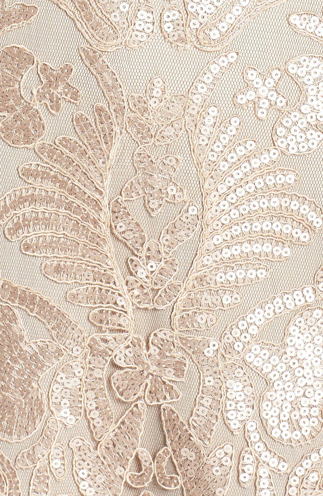 Alternate Image 6  - Tadashi Shoji Sequin Embroidered Mesh Gown
