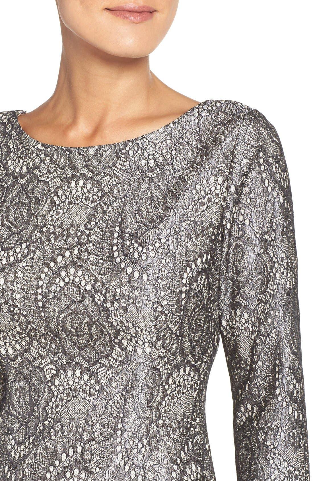 Alternate Image 4  - Eliza J Bonded Lace Sheath Dress