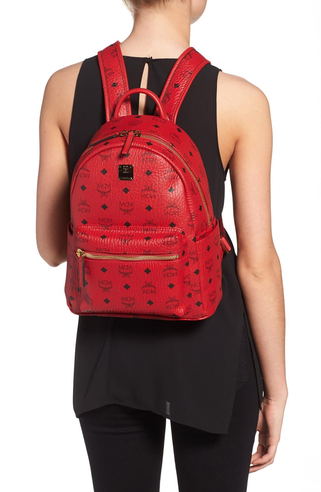 Alternate Image 2  - MCM 'Small Stark' Coated Canvas Backpack