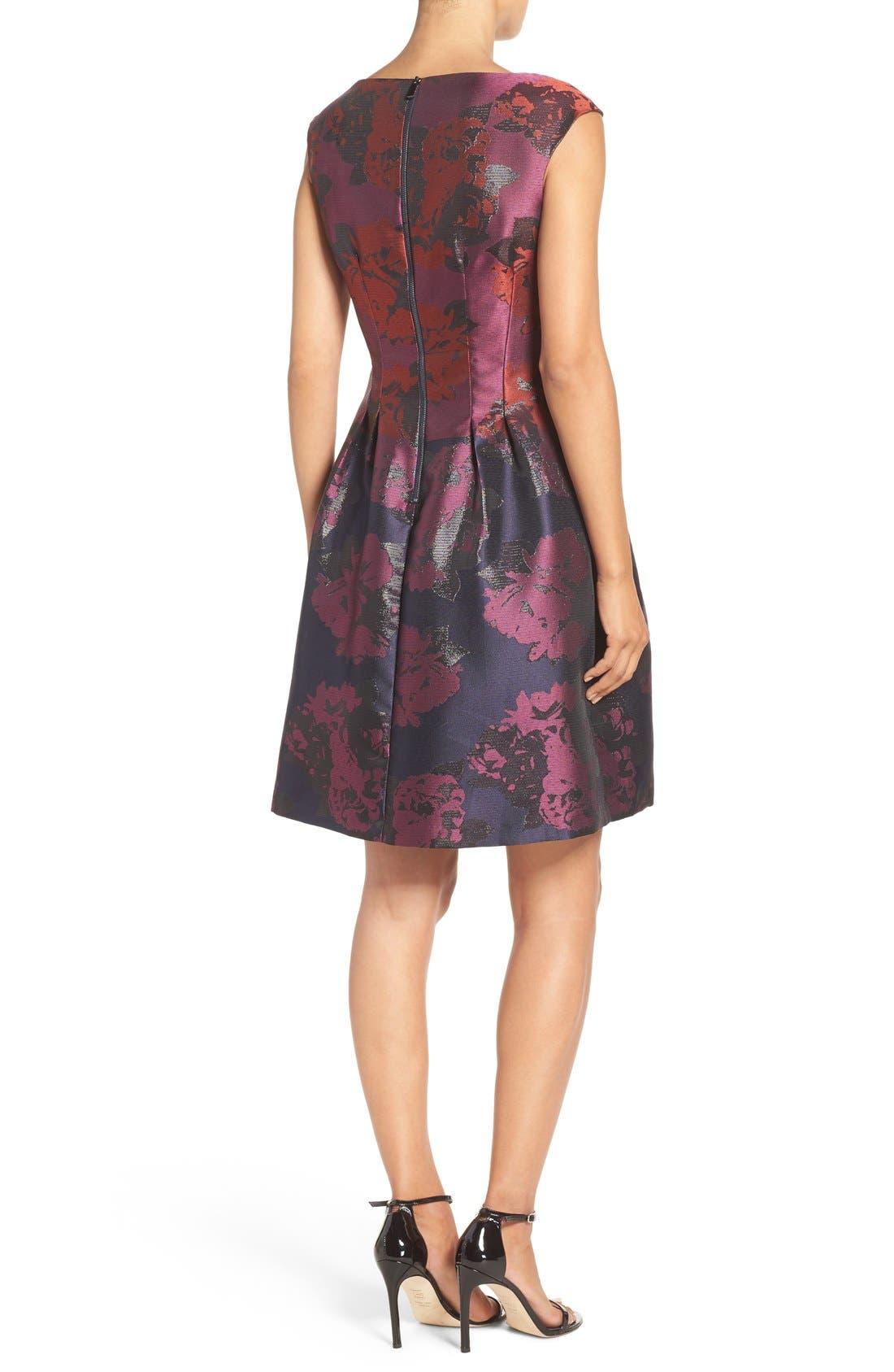 Alternate Image 2  - Vince Camuto Jacquard Fit & Flare Dress (Regular & Petite)