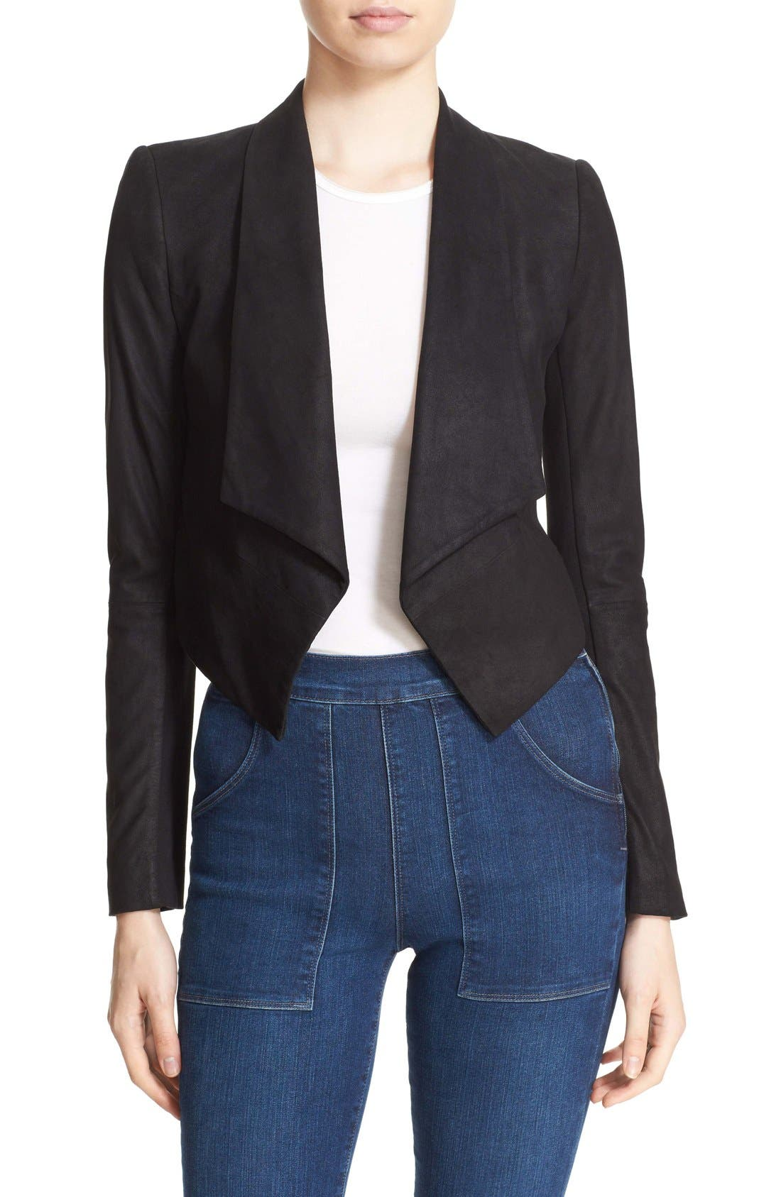 ALICE + OLIVIA 'Harvey' Suede & Stretch Knit
