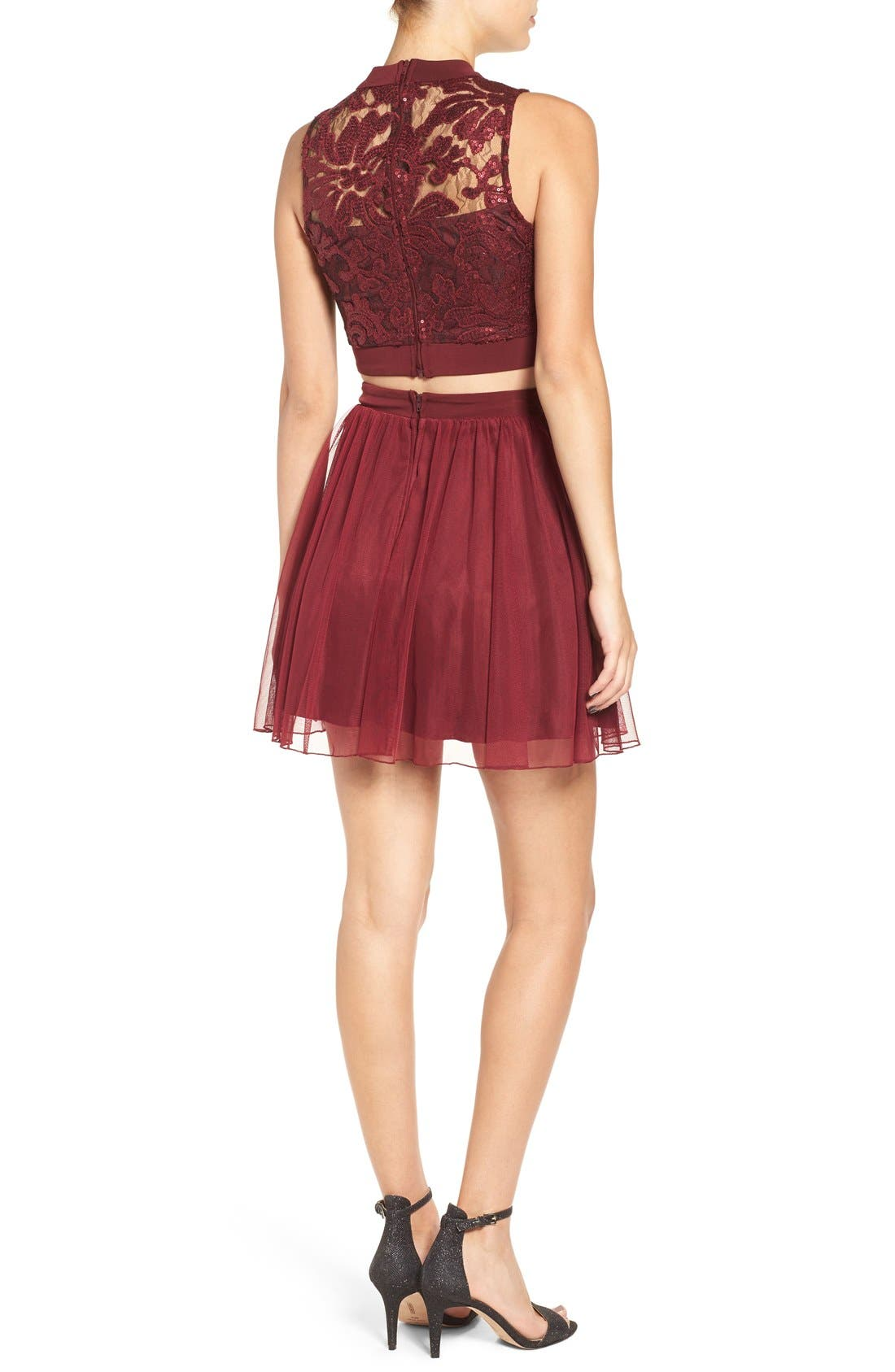 Alternate Image 2  - Speechless Sequin Lace Two-Piece Dress
