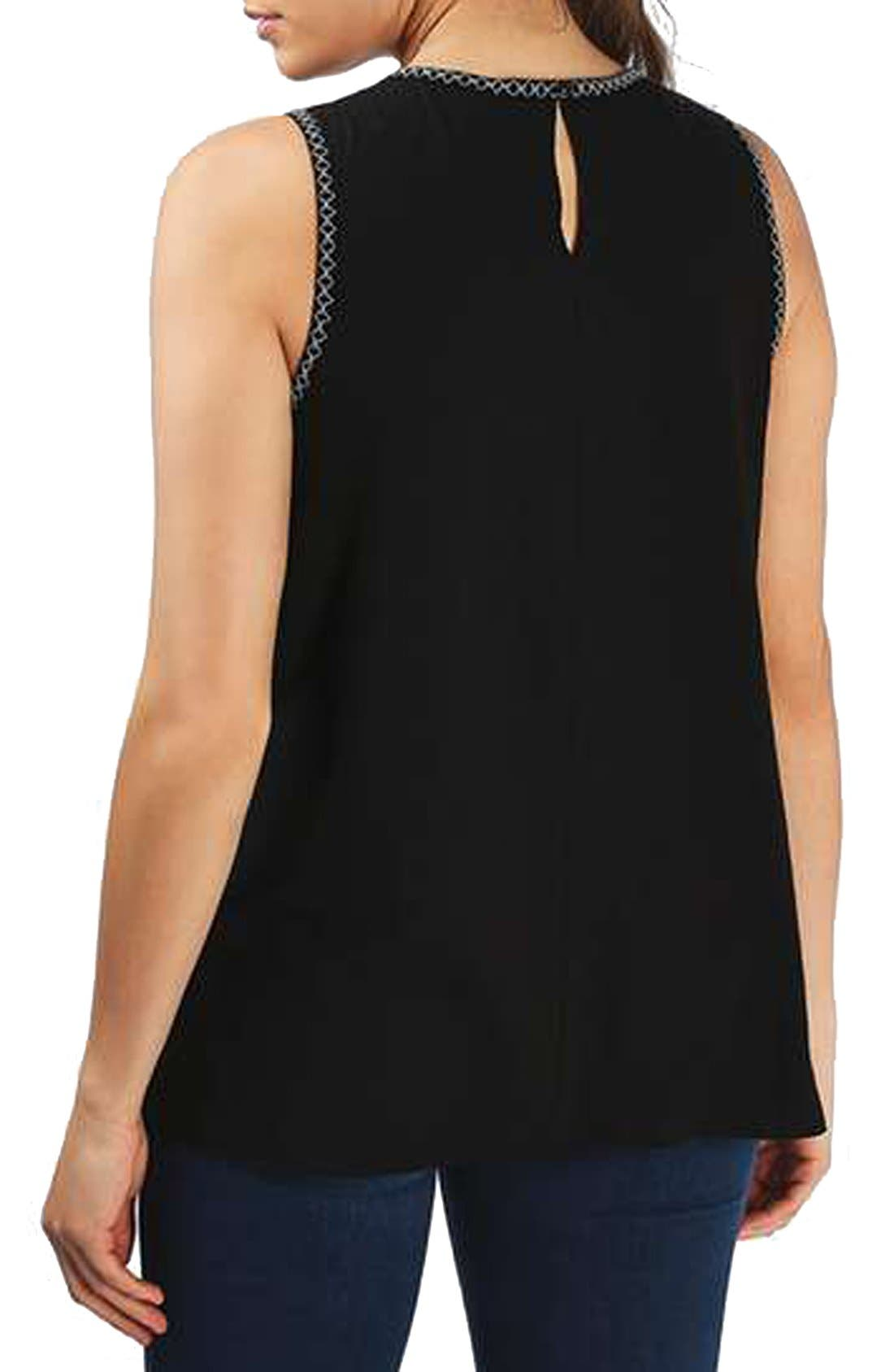 Alternate Image 3  - Topshop Sleeveless Embroidered Smocked Maternity Top