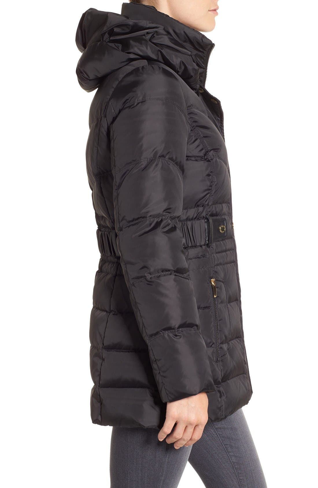 Alternate Image 3  - Via Spiga Snap Detail Pillow Collar Puffer Coat