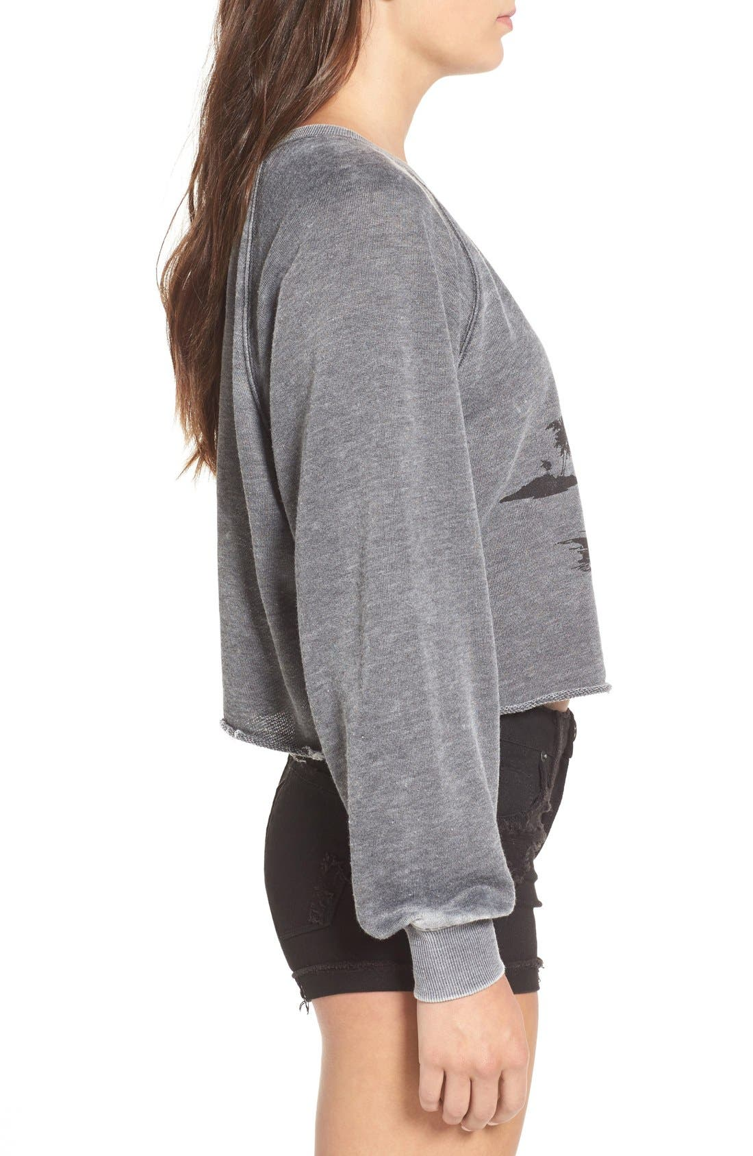 Alternate Image 3  - Billabong 'Again & Again' Crop Sweatshirt