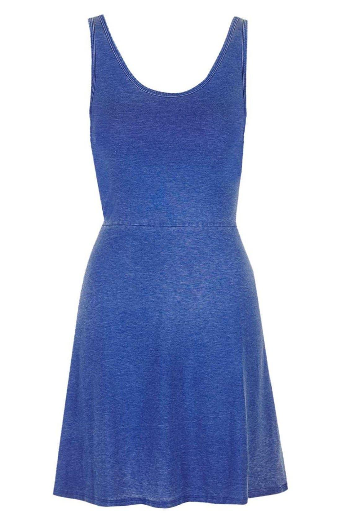 Alternate Image 1 Selected - Topshop Burnout Jersey Skater Dress