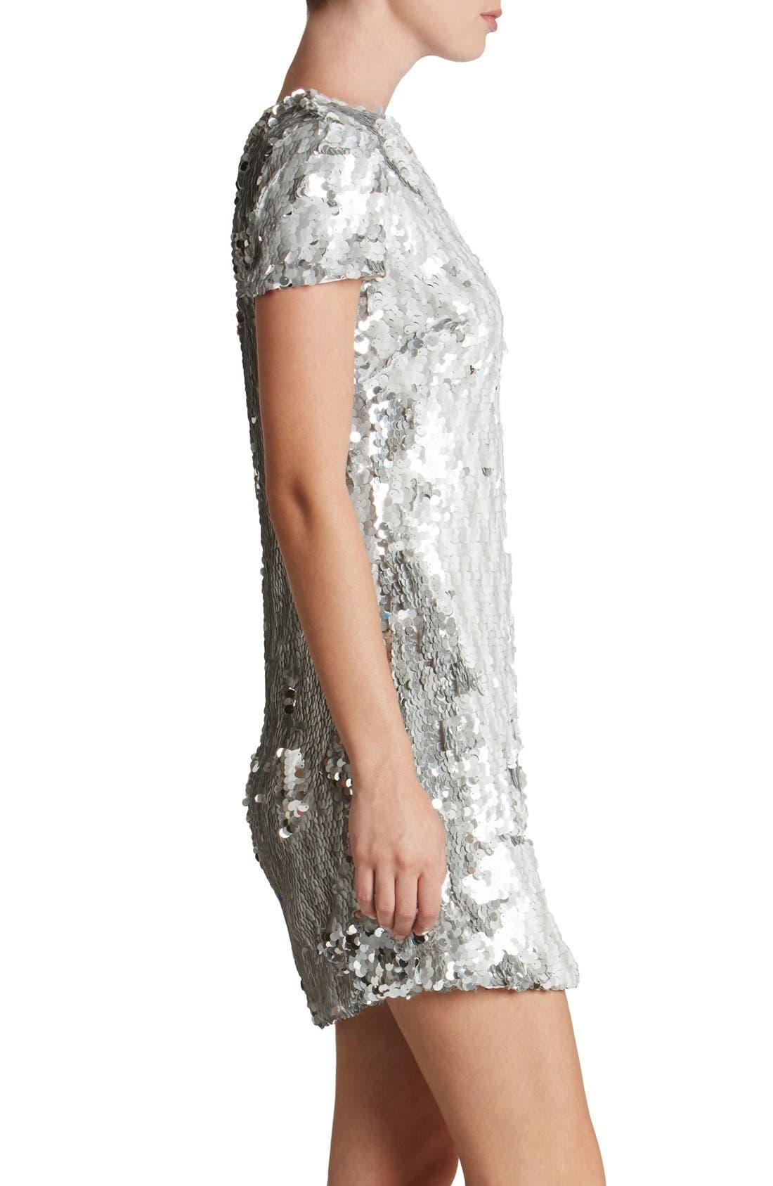 Alternate Image 3  - Dress the Population 'Ellen' Sequin Sheath Dress