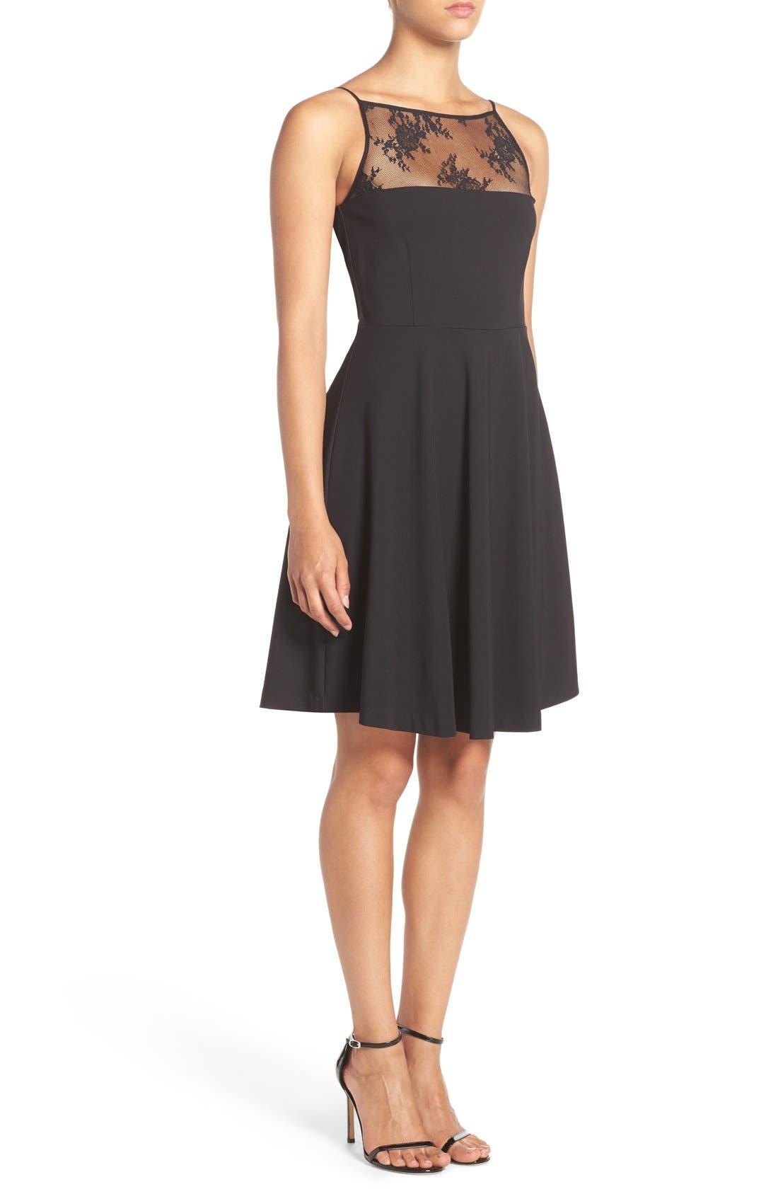 Alternate Image 3  - BB Dakota 'Milford' Lace & Ponte Fit & Flare Dress