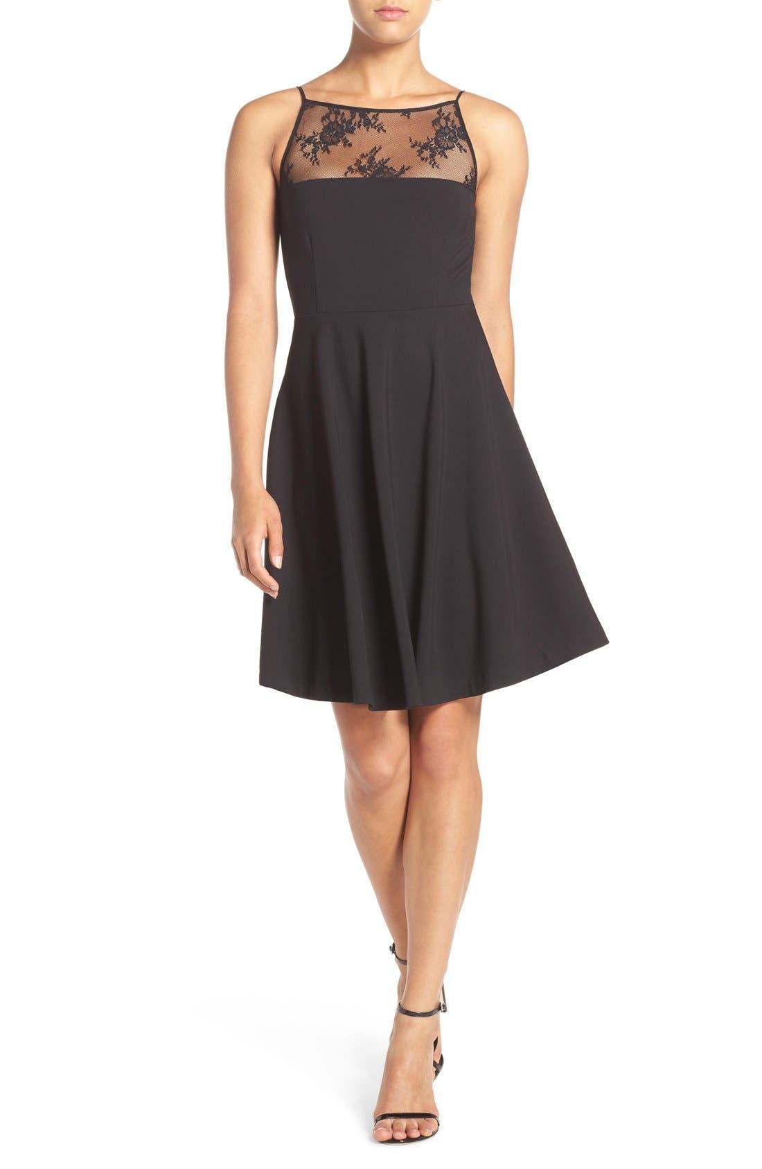 Alternate Image 6  - BB Dakota 'Milford' Lace & Ponte Fit & Flare Dress