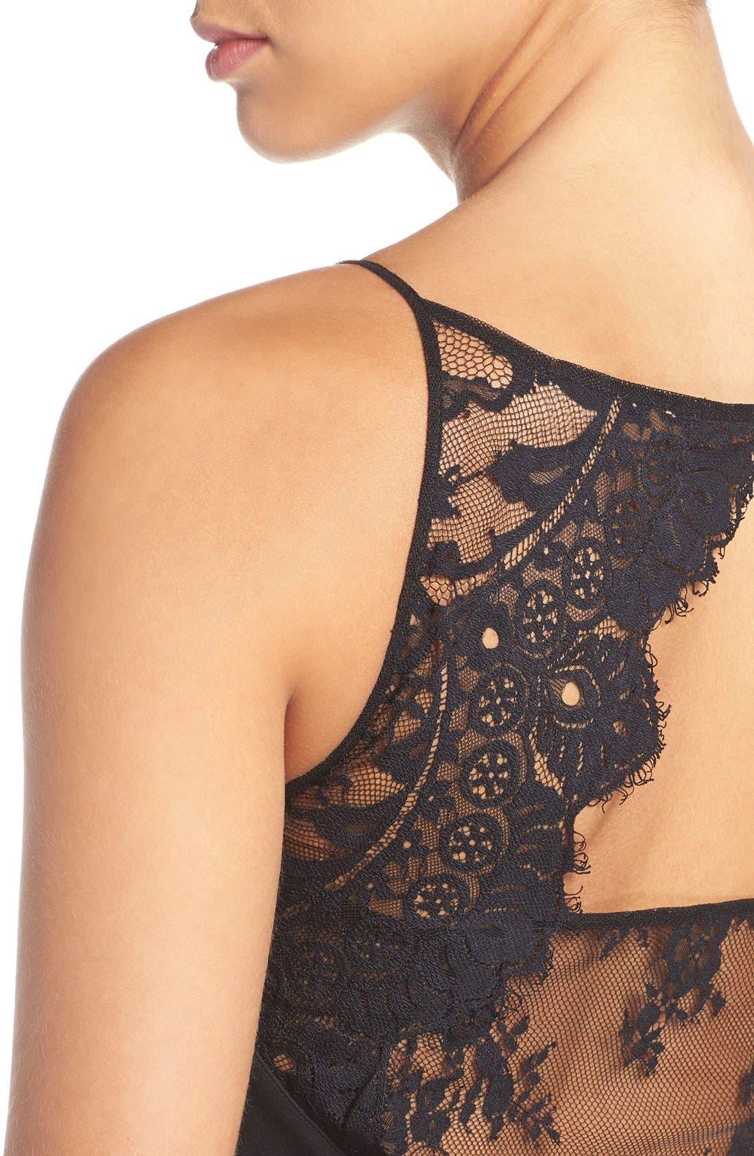 Alternate Image 4  - BB Dakota 'Milford' Lace & Ponte Fit & Flare Dress