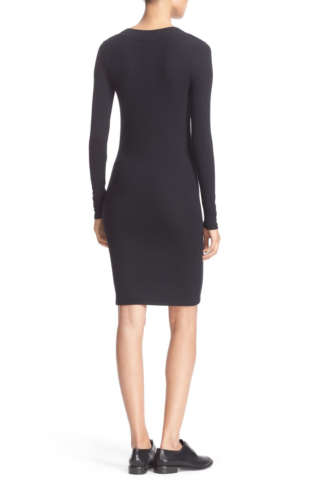 Alternate Image 2  - ATM Anthony Thomas Melillo Scoop Neck Rib Jersey Dress