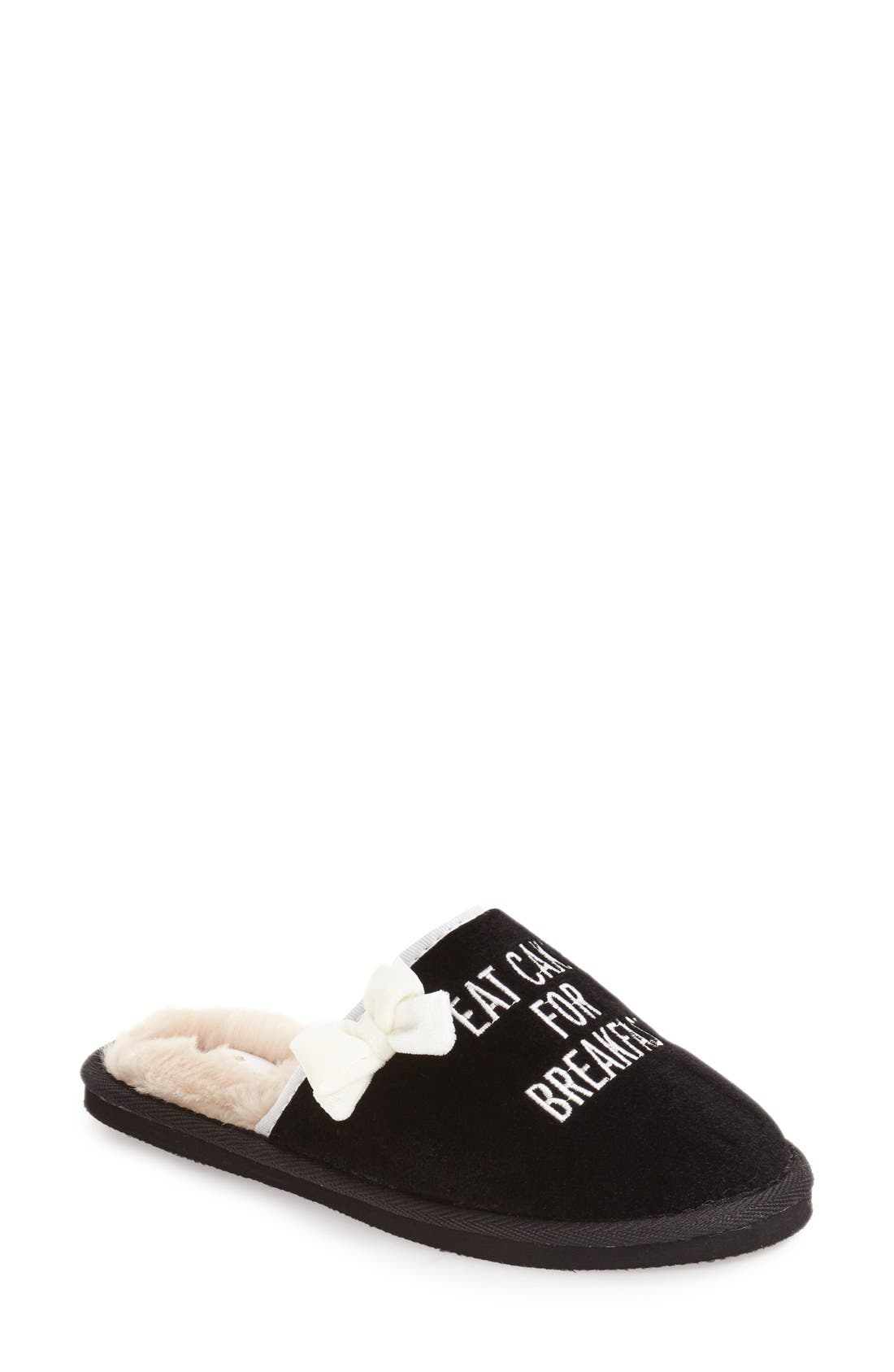 Main Image - kate spade new york 'eat cake for breakfast' slipper (Women)