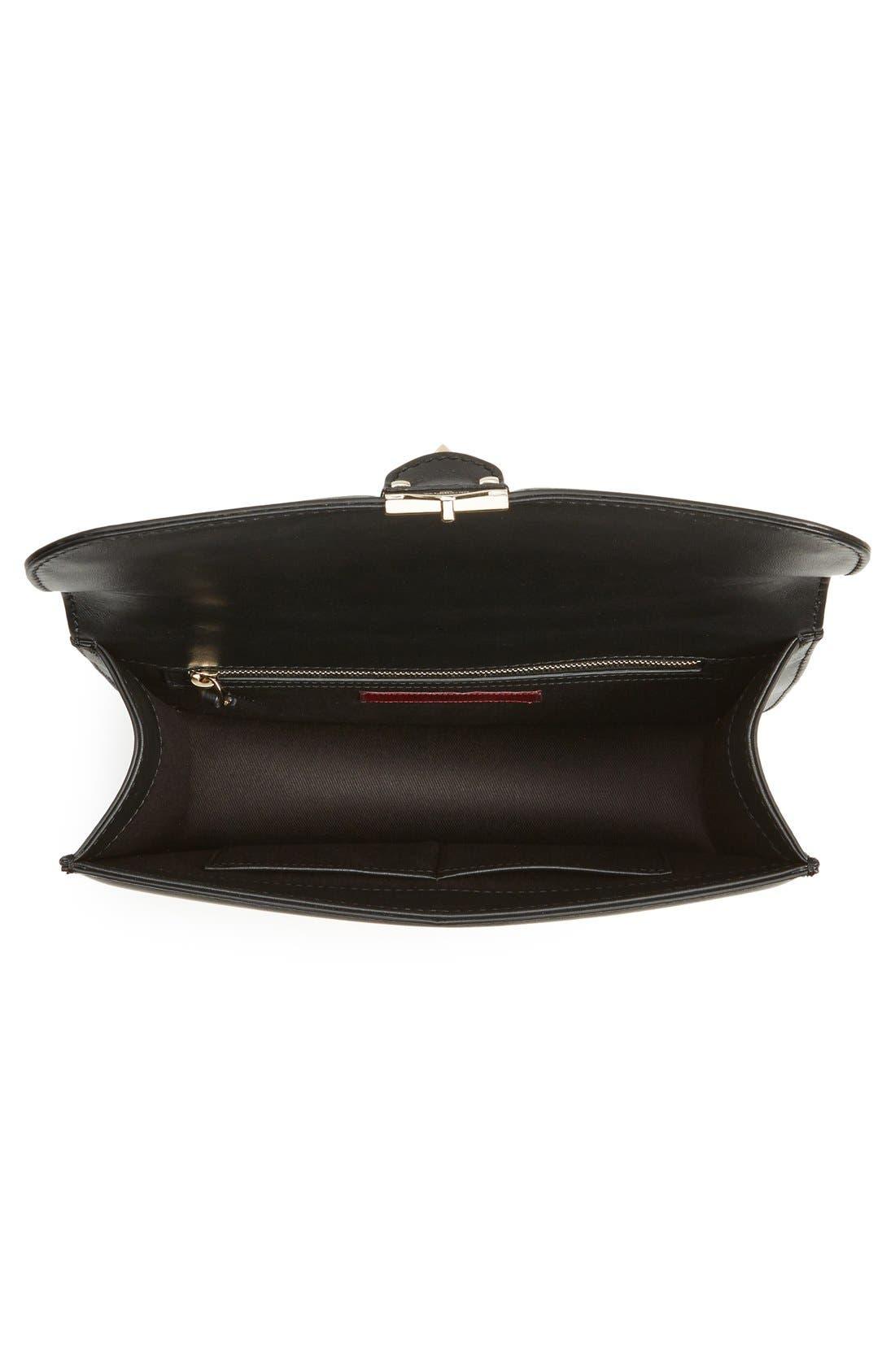 Alternate Image 4  - Valentino 'Medium Lock' Studded Leather Shoulder Bag