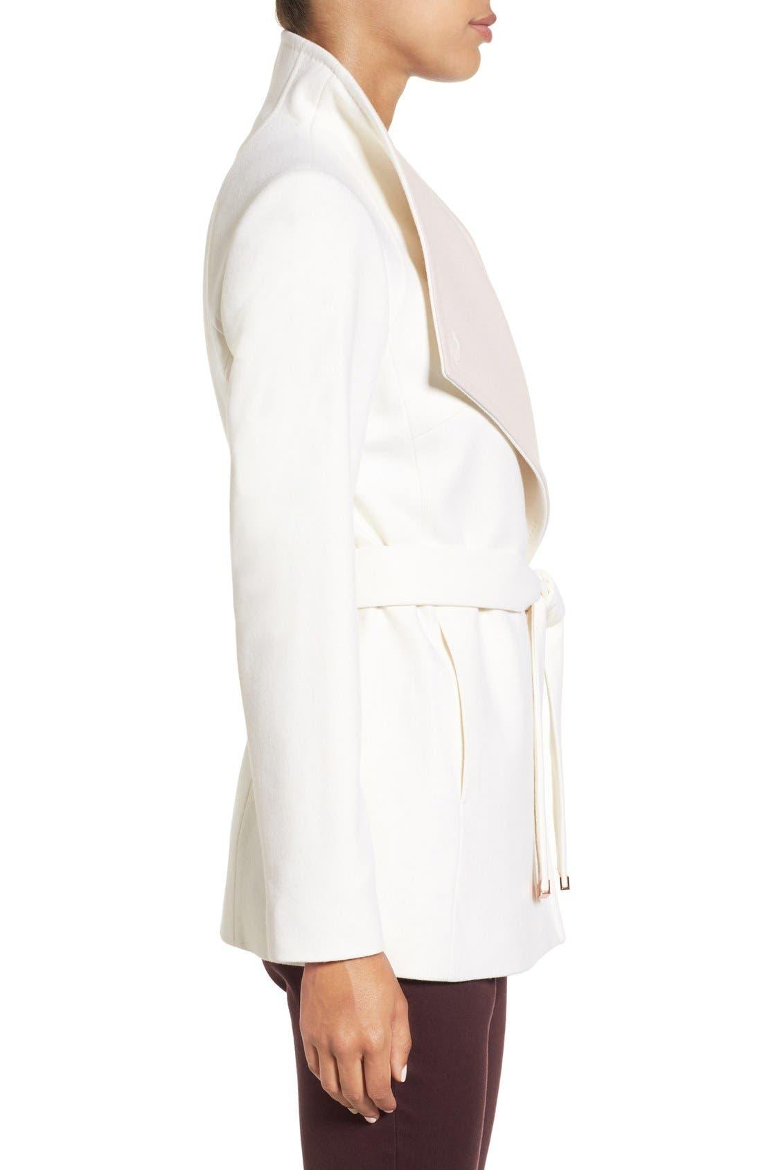 Alternate Image 3  - Ted Baker London Wool Blend Wrap Coat