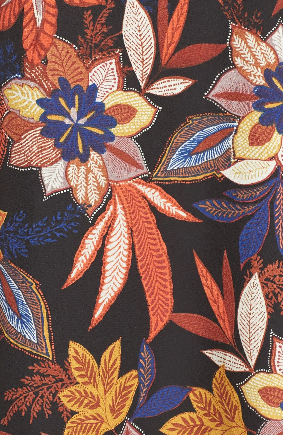 Alternate Image 6  - ECI Floral Print Tie Neck Shift Dress