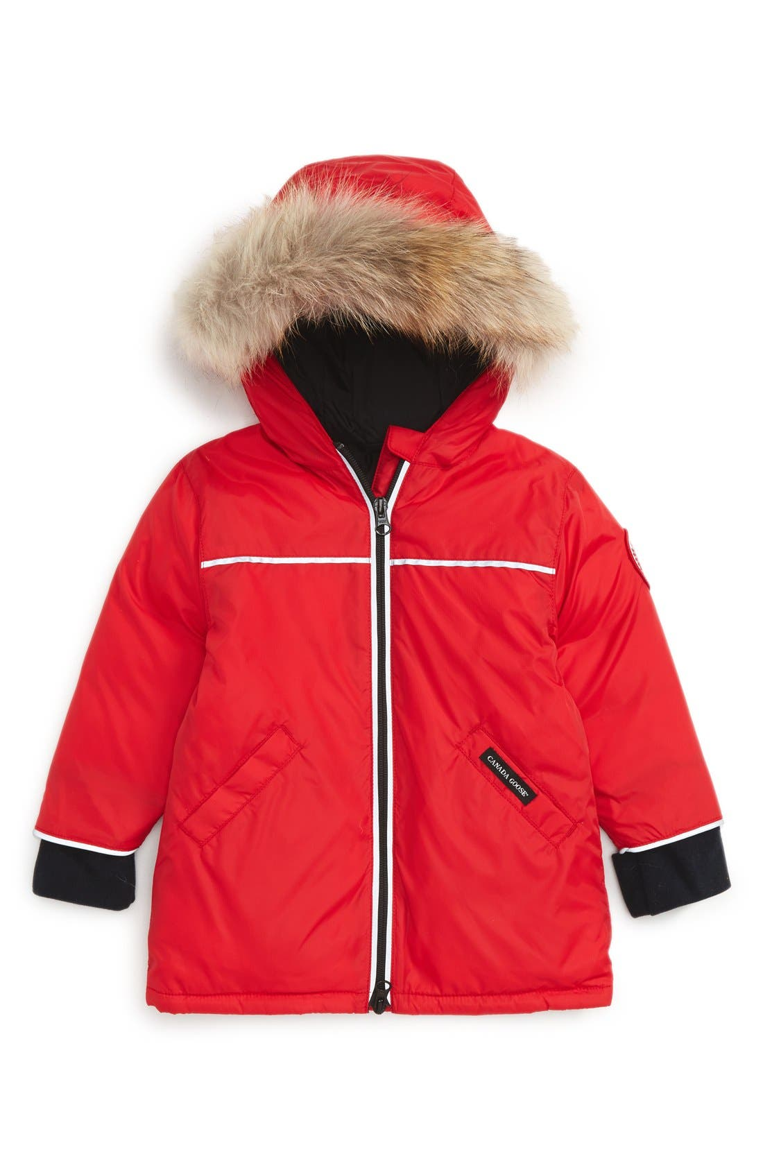 Canada Goose 'Reese' Down Jacket with Genuine Coyote Fur Trim (Baby)