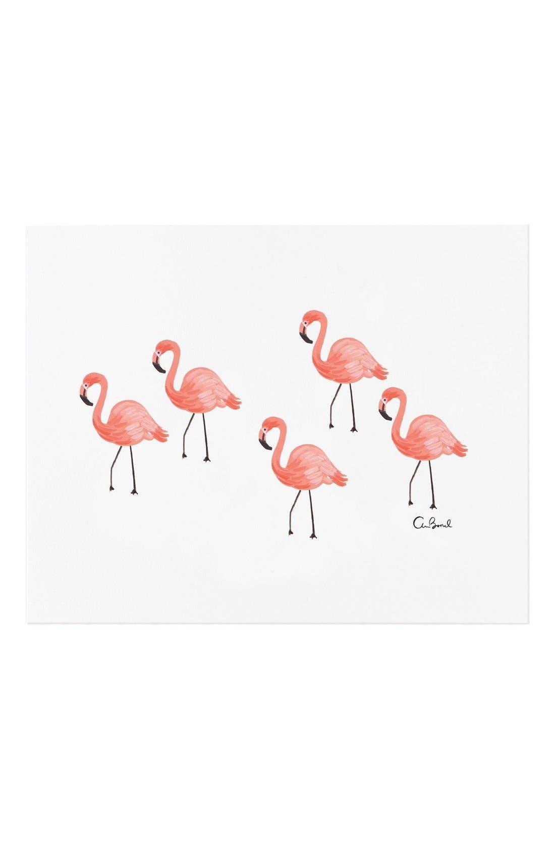 Alternate Image 1 Selected - Rifle Paper Co. 'Flamingo' Art Print