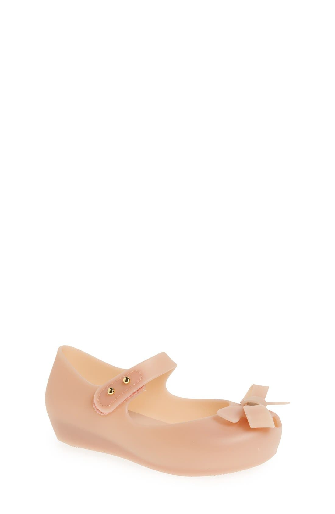 Mini Melissa 'Ultragirl - Bow' Mary Jane Flat (Walker & Toddler)