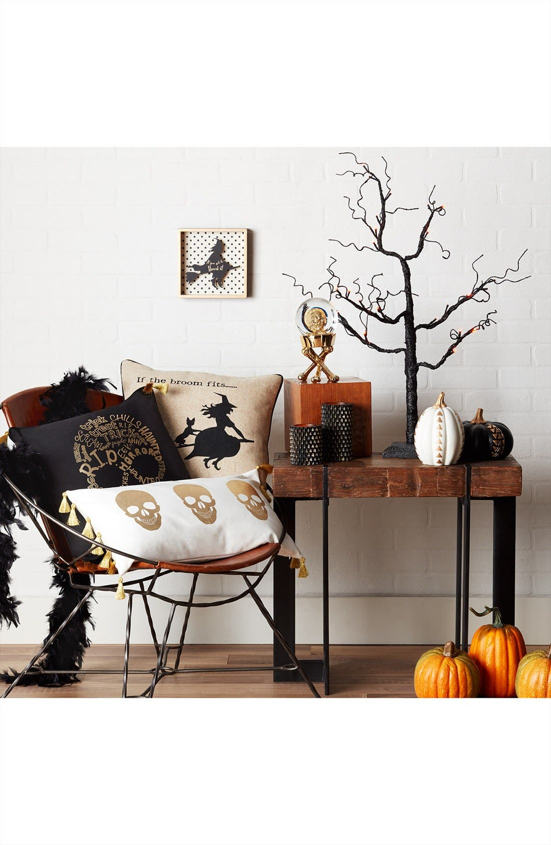 Alternate Image 2  - Levtex Black & Gold Pumpkin Decoration