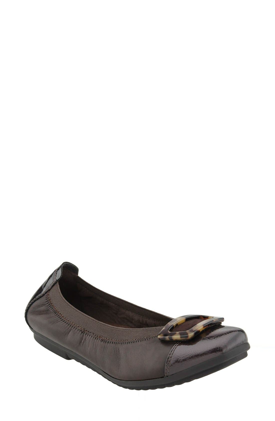 Earth® 'Eclipse' Cap Toe Buckle Flat (Women)
