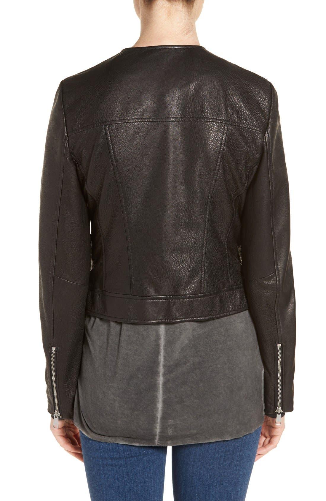 Alternate Image 2  - Andrew Marc 'Riley' Textured Leather Moto Jacket