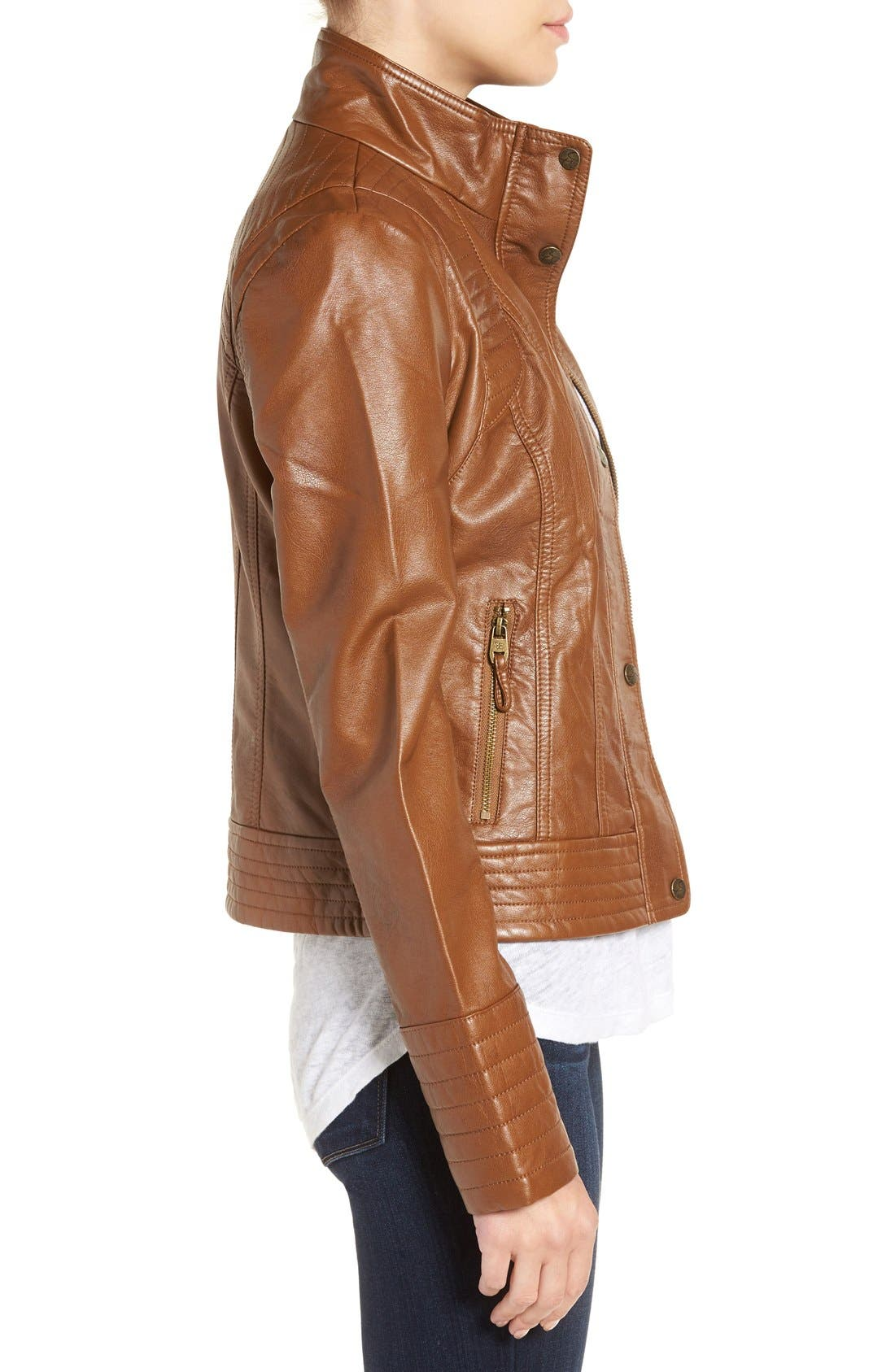 Alternate Image 3  - Jessica Simpson Quilted Faux Leather Jacket