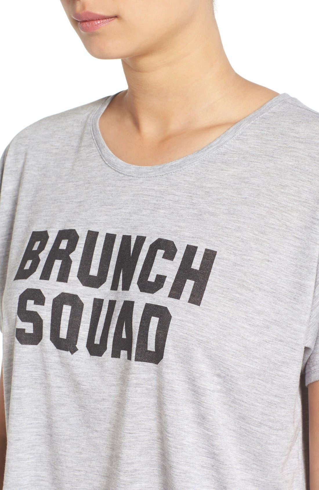 Alternate Image 4  - Kid Dangerous 'Brunch Squad' Crop Graphic Tee