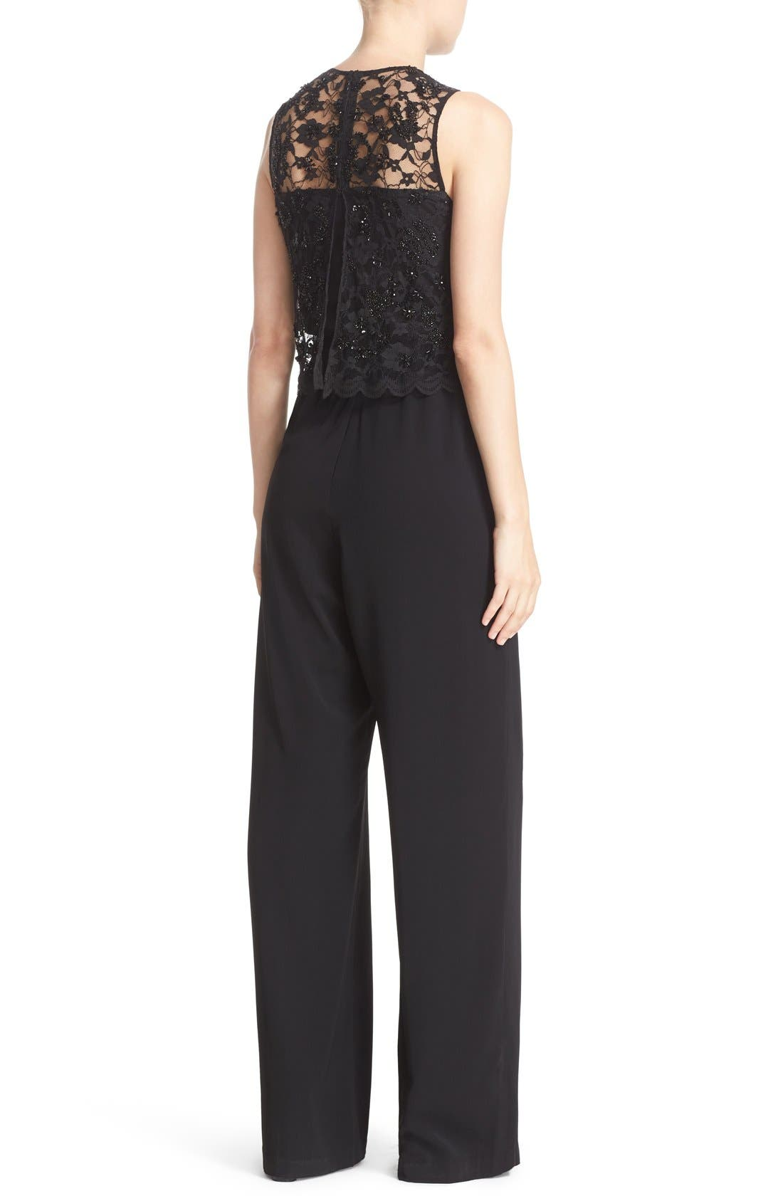 Alternate Image 2  - Parker 'Maddie' Embellished Lace Overlay Jumpsuit